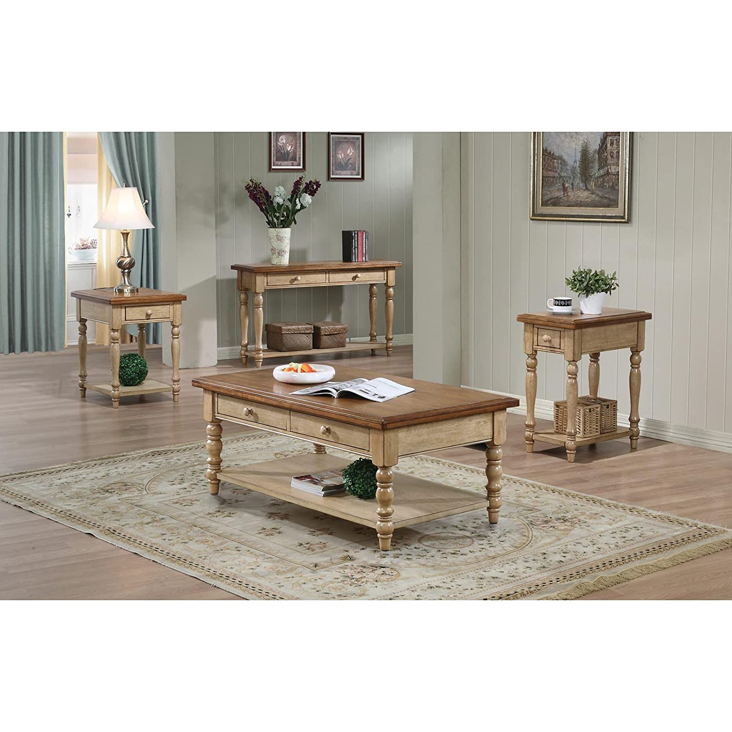 Amazon Quails Run Coffee Table in Ebony Finish Kitchen & Dining