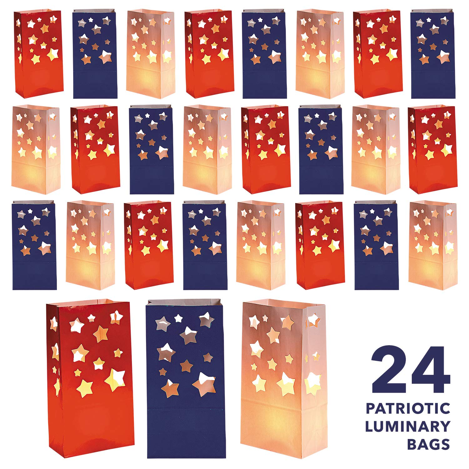 Christmas In July Party Supplies.Live It Up Party Supplies Patriotic Luminary Bags For 4th Of July Decorations Military Welcome Home Parties And More 24 Pack