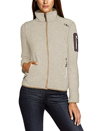 14a70646860d3 CMP Damen Strick Fleecejacke  Amazon.de  Bekleidung