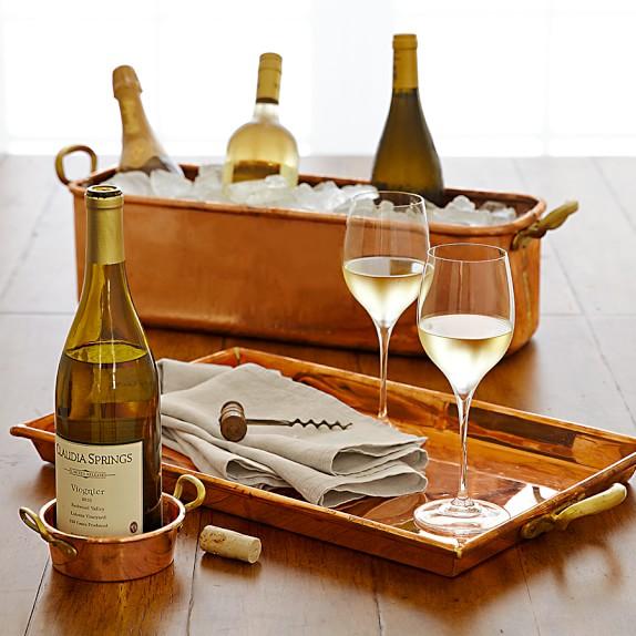 Copper Wine Bottle Coaster | Williams-Sonoma