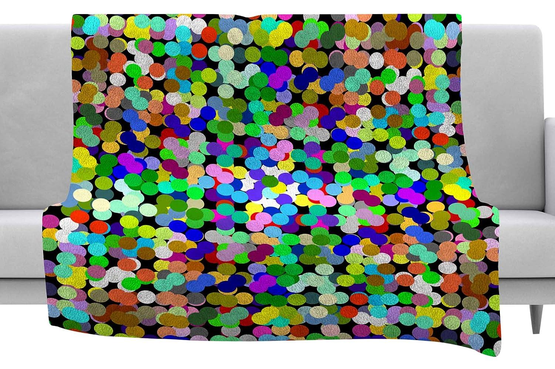 60 x 40 Fleece Blankets Kess InHouse Trebam Zumbati Multicolor Digital Throw