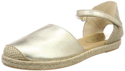 Unisa Yixo_18_lmt, Alpargata para Niñas, Dorado (Platino), 34 EU: Amazon.es: Zapatos y complementos