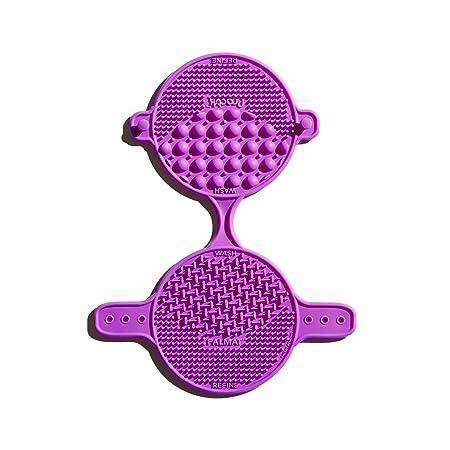 Practk - Palmat Makeup Brush Cleaner - Fits Universal Hand Size - Purple