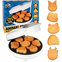 Animal Mini Waffle Maker- Makes 7 Fun, Different Shaped Pancakes Including a Cat, Dog, Reindeer & More - Electric Non…