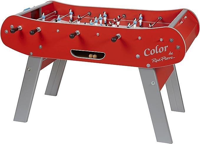 Rene Pierre – Baby Foot Club – Mesa de futbolín Interior – Fabricación Francesa – 168 x 98 x 44, Rojo: Amazon.es: Deportes y aire libre