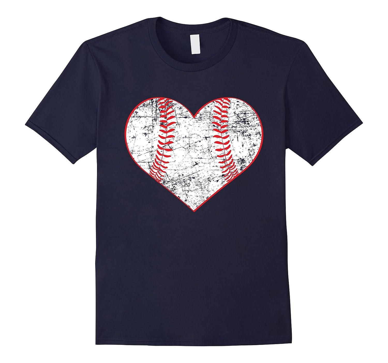Baseball Heart Shirt, Softball Mom Sports Gift-CL