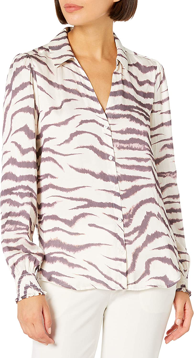 PAIGE Womens Renay Button Up Top