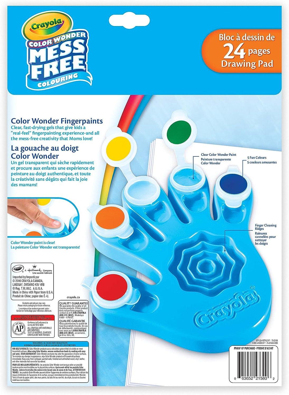 Amazon Com Crayola Color Wonder Fingerpaints And Paper