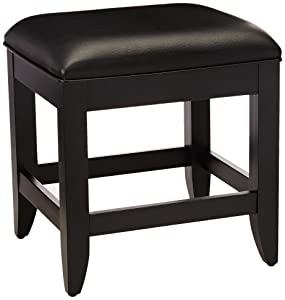 Home StylesBedford Vanity Bench, Black Finish