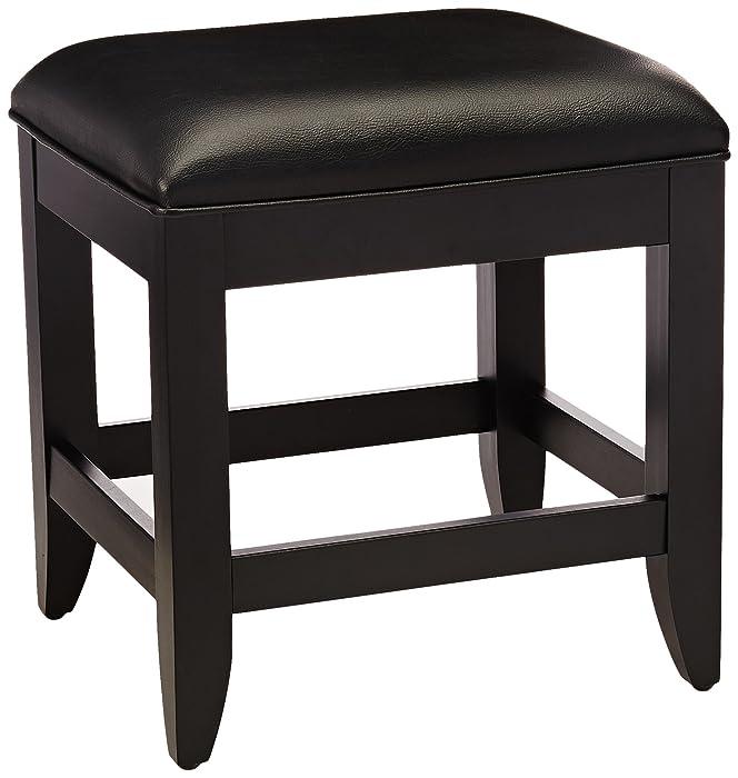 Home StylesBedford Vanity Bench, Black Finish