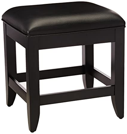 Amazon.com: Home Styles 5531-28 Bedford Vanity Bench, Black Finish ...