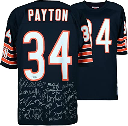 quality design a5489 d089f 1985 Chicago Bears Team Signed Walter Payton Mitchell & Ness ...