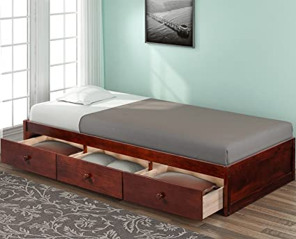Amazon Com Bed Frame With Storage Drawers Julyfox 500lb Heavy Duty