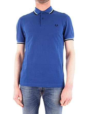 f50253d5 Image Unavailable. Image not available for. Color: Fred Perry Men's Twin  Tipped Polo Shirt M3600 H30 L Royal/Snow White/Navy