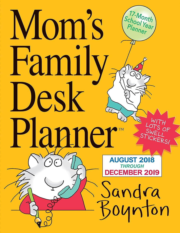 6 x 8 Inches Moms Family Desk Planner 2019