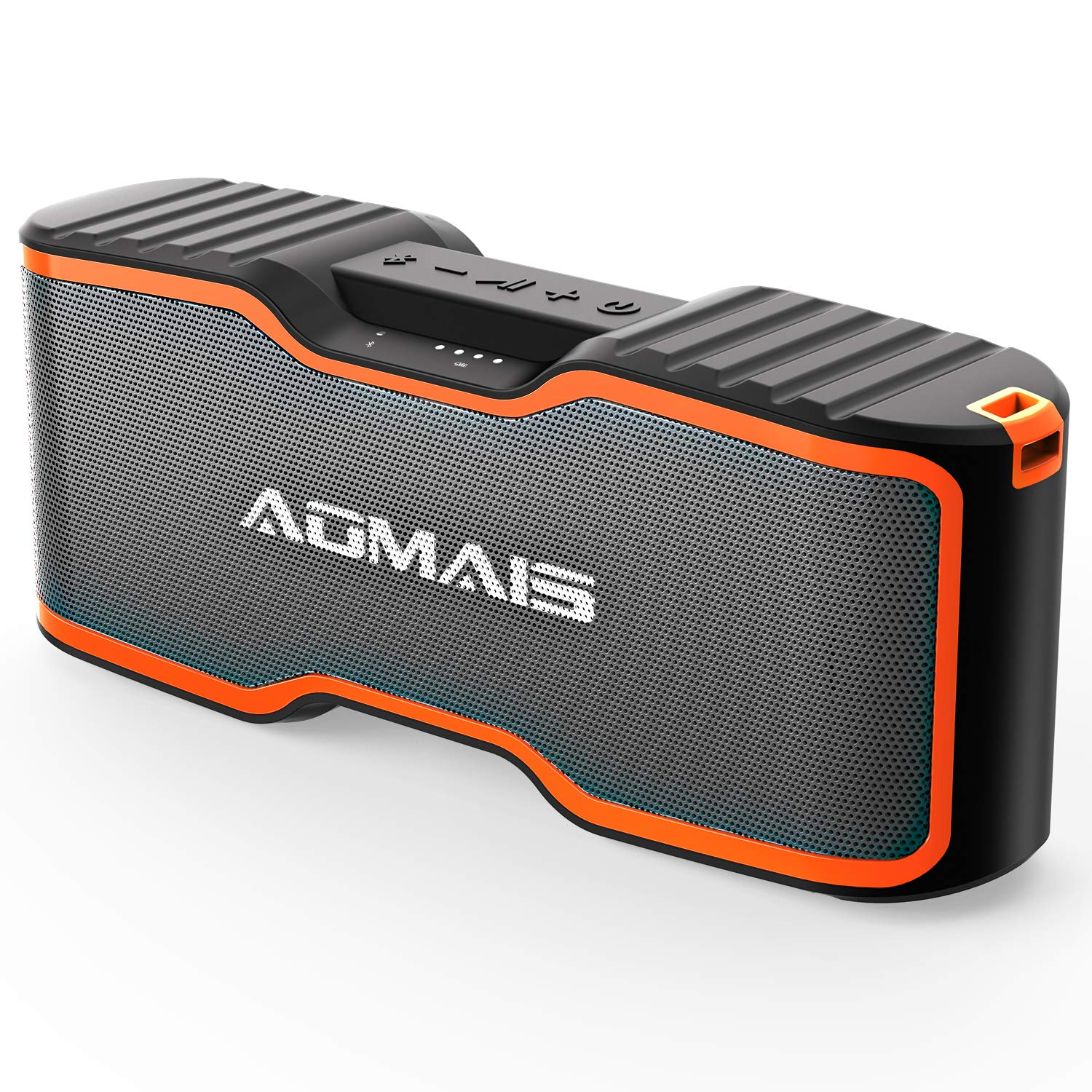 (2018 Upgrade) AOMAIS Sport II+ Bluetooth Speakers, Portable Wireless Speaker with Loud Sound, IPX7 Waterproof, 20 Hours Playtime, 99 ft Bluetooth Range & Built-in Mic, Perfect for Party, Beach,Shower by AOMAIS