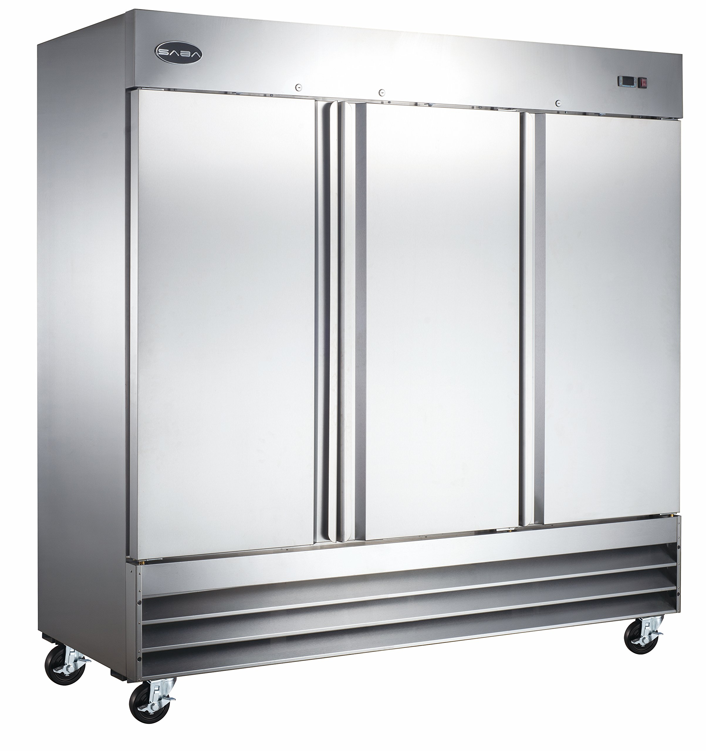 Heavy Duty Commercial Stainless Steel Reach-In Freezer (72'' Three Solid Doors)