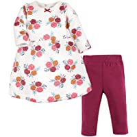 HUDSON BABY Unisex Baby Quilted Cotton Dress and Leggings