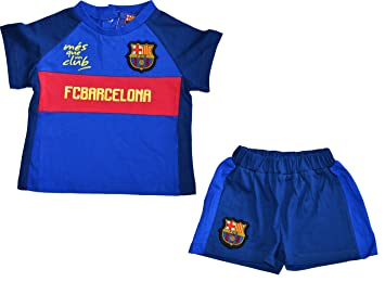 Conjunto bebé Barca – + Short – Camiseta Oficial FC Barcelona, Bebé niño, Azul