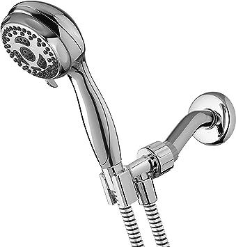 Twin Turbo Waterpik 5/' hose DSL653 Hand Held Shower Head 6 Setting Chrome