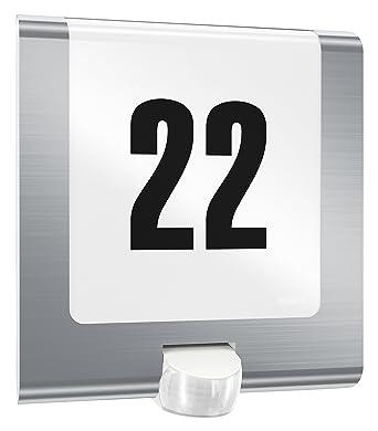 Steinel Außenleuchte L 220 Led Edelstahl Mit Hausnummer 75 W 180 Bewegungsmelder Max 10 M Reichweite Schlagfest