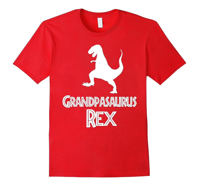 Mens Grandpasaurus Rex Funny Dinosaur T-Shirt for Grandpa-TD