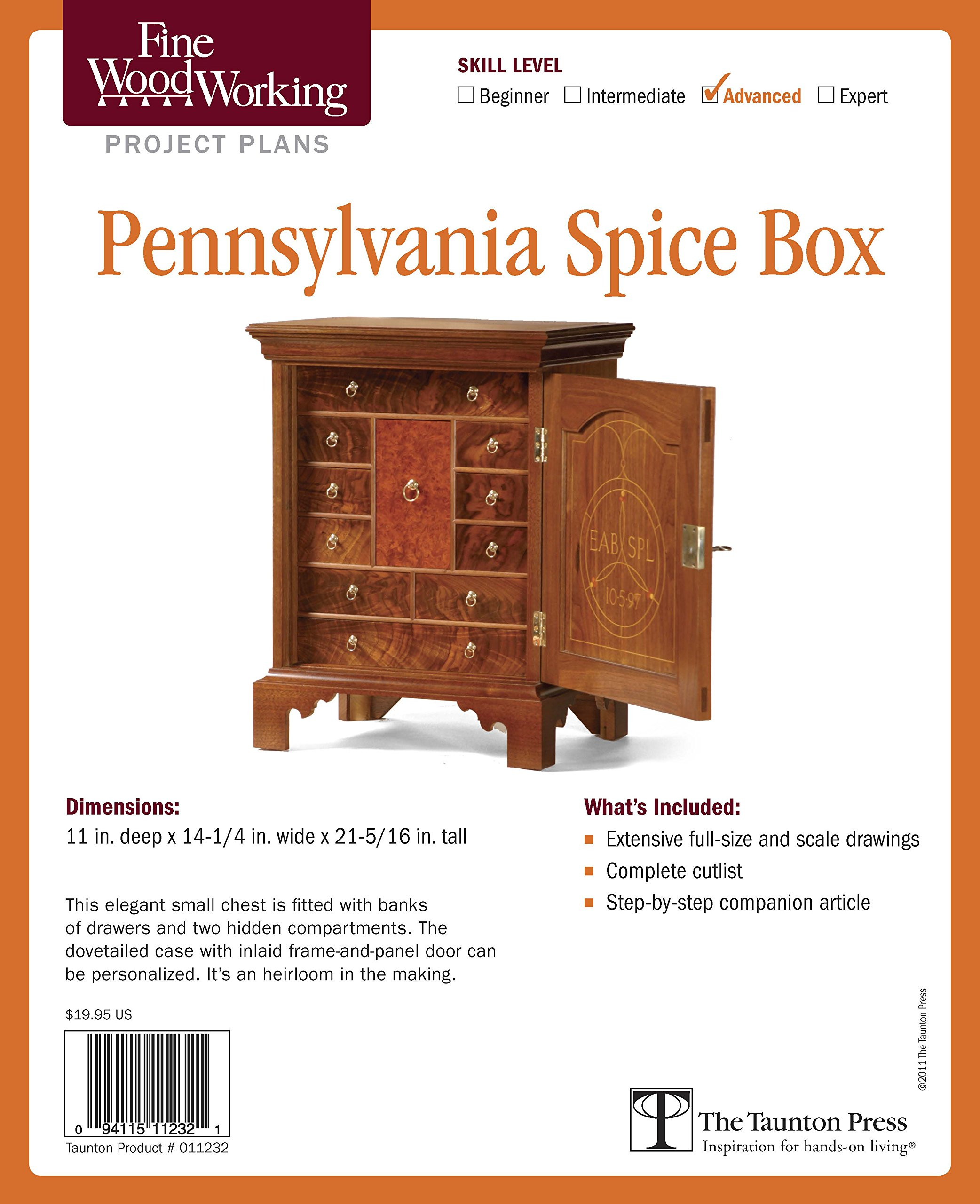 Fine Woodworking's Pennsylvania Spice Box Plan (Fine Woodworking Project Plans)