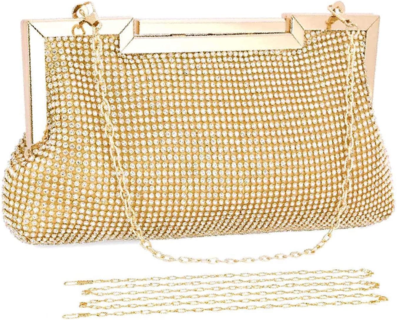 Rock on Styles Patent Sparkly Bridal Evening Party Prom Handbag Clutch Bag-6672