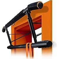 AthleticPro [Oryginalny drążek do podciągania, futryna drzwi – bardzo wytrzymały pull up bar [do 200 kg] – drążek do…