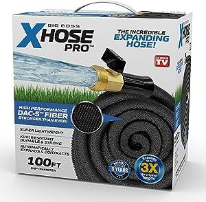 Xhose Pro DAC-5 High Performance Lightweight Expandable Garden Hose with Brass Fittings (100 Feet)
