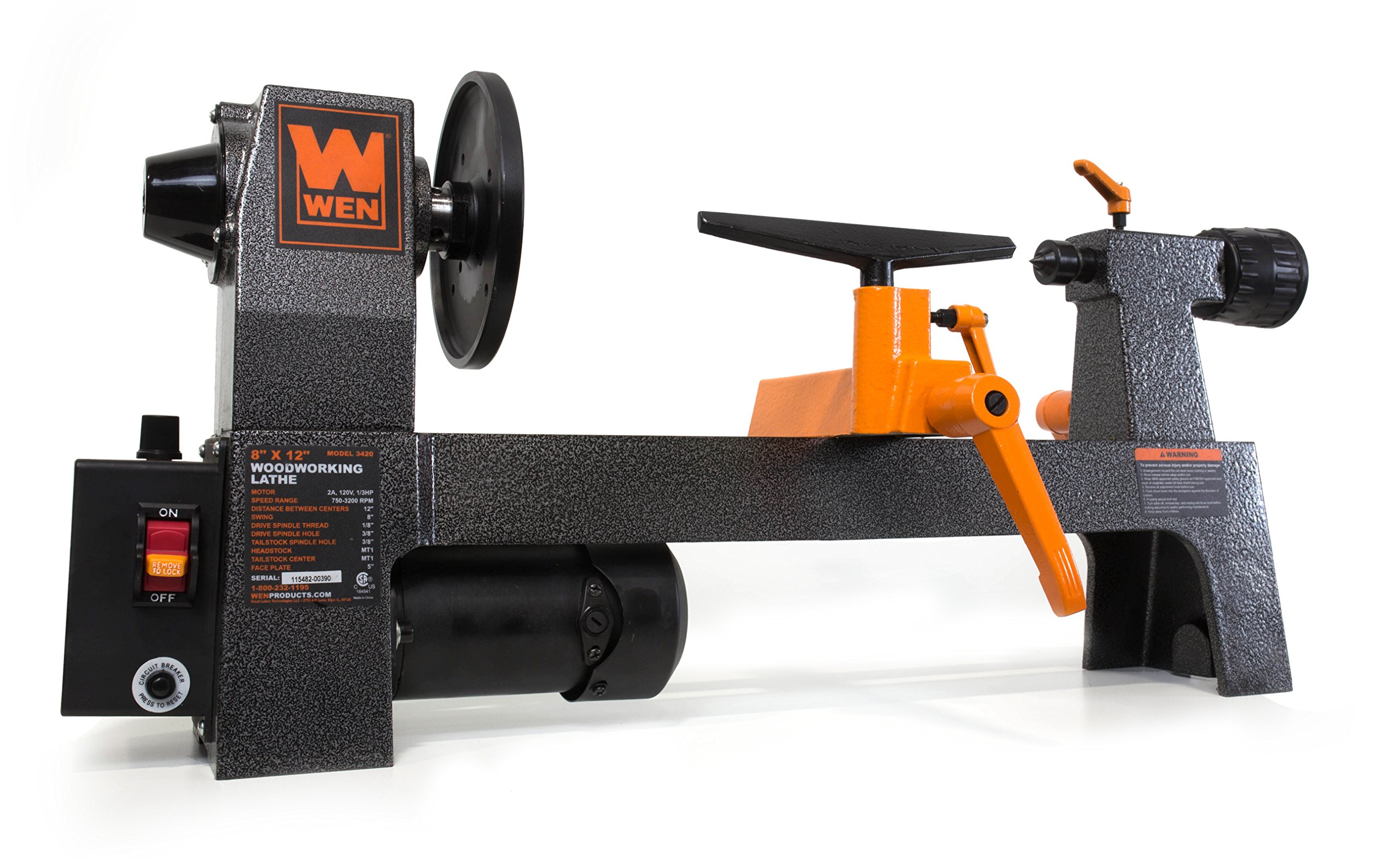 WEN 3420T 8 in. x 12 in. Variable Speed Benchtop Mini Wood Lathe by WEN