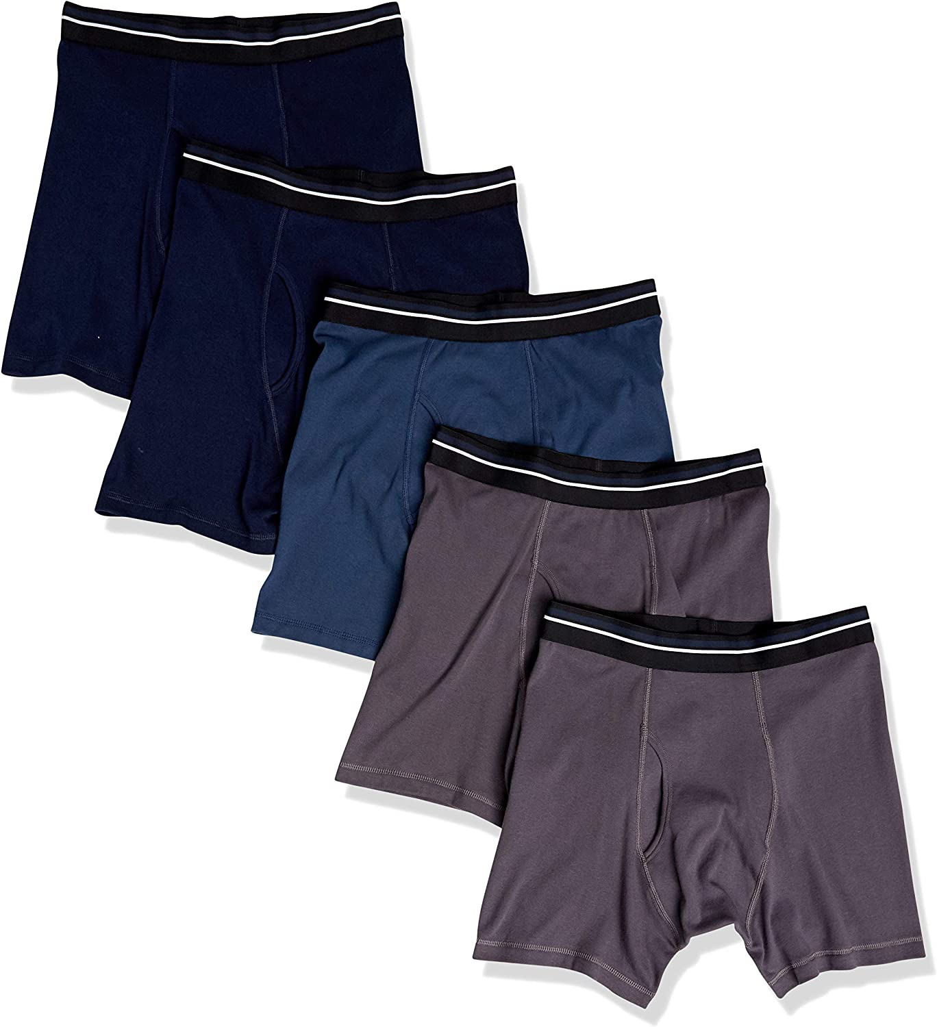 Amazon Essentials Men's 5-Pack Tag-Free Boxer Briefs