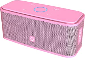 DOSS SoundBox Touch Portable Wireless Bluetooth Speakers with 12W HD Sound and Bass, 20H Playtime, Handsfree, Speakers for Home, Outdoor, Travel-Pink