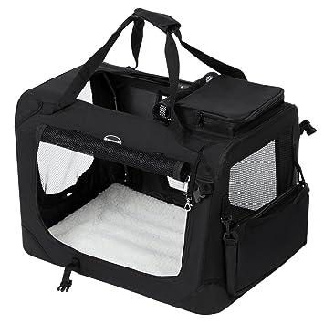 SONGMICS 102 x 69 x 69 cm Bolsa de Transporte para Mascotas Transportín Plegable para Perro