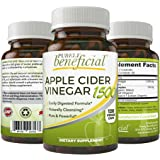 Organic Apple Cider Vinegar 1500mg - Raw, Non-GMO, Extra Strength, 120 Capsules, Vegetarian (120 Capsules)