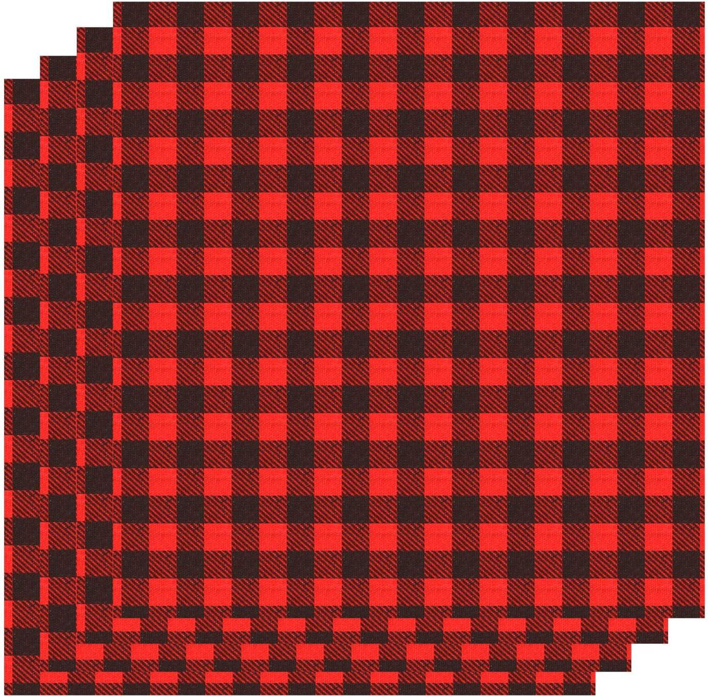 White//Black 4-12x12 Bundle Red Black Buffalo Check Heat Transfer Vinyl Black and White Buffalo Plaid HTV