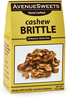 product image for AvenueSweets - Handcrafted Old Fashioned Nut Brittle - 7 oz Box - Cashew