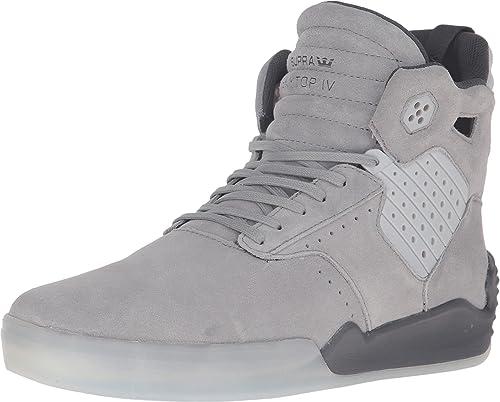 Supra Skytop IV para Hombre Beige Suede High Top Zapatillas con Cordones Zapatos: Amazon.es: Zapatos y complementos