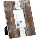 """Barnyard Designs Rustic Farmhouse Distressed Picture Frame - Unfinished Wood Photo Frame 4"""" x 6"""""""