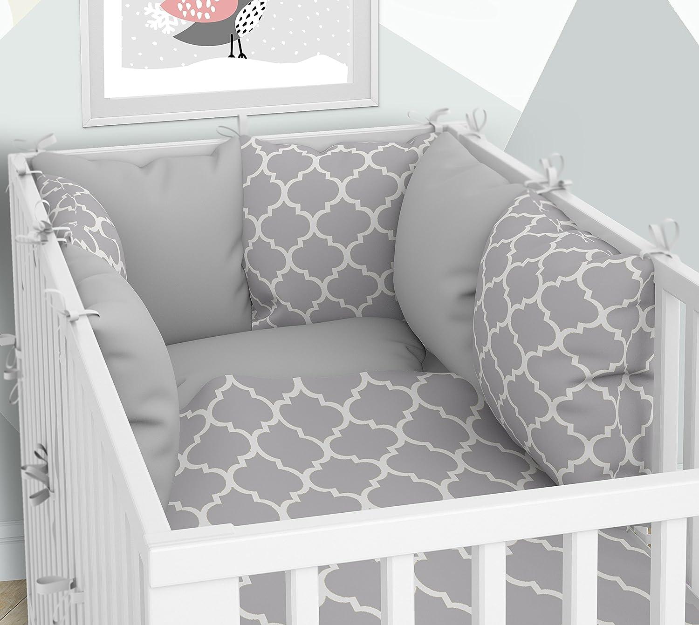 Parure de lit bébé et tour de lit–SIX Coussin Velours les taies d'oreillers pour le lit bébé 60x 120cm KLARA BRIST