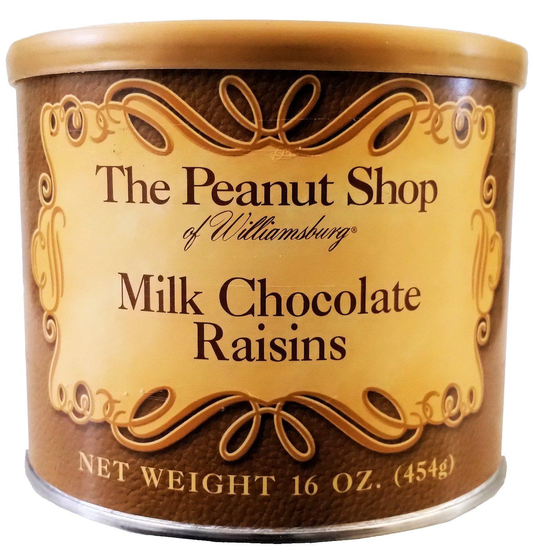 The Peanut Shop of Williamsburg Milk Chocolate Raisins - 16 Oz.