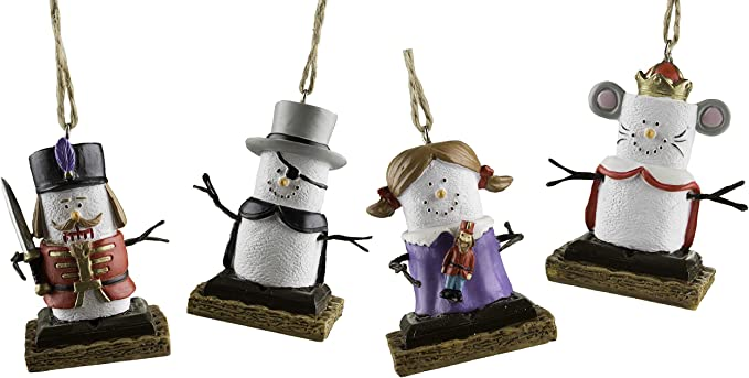S/'mores Nutcracker Style Ornament Girl