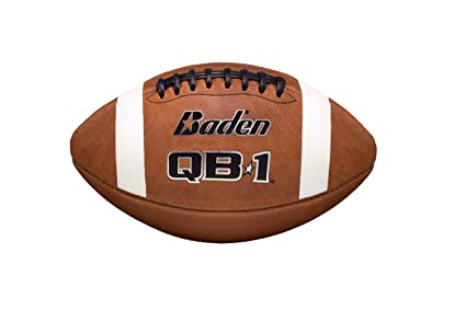 fcc973bbac9 Amazon.com   Baden QB1 Official Size Leather Game Football   Sports ...