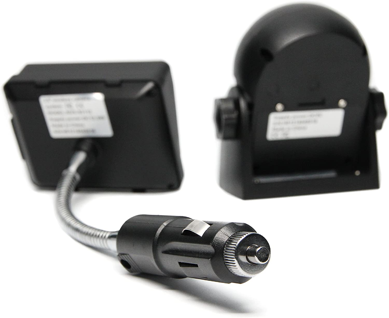 Retrovisor Seguridad rvs-83112/C/ámara de v/ídeo con Pantalla LCD de 3,5/Pulgadas Negro