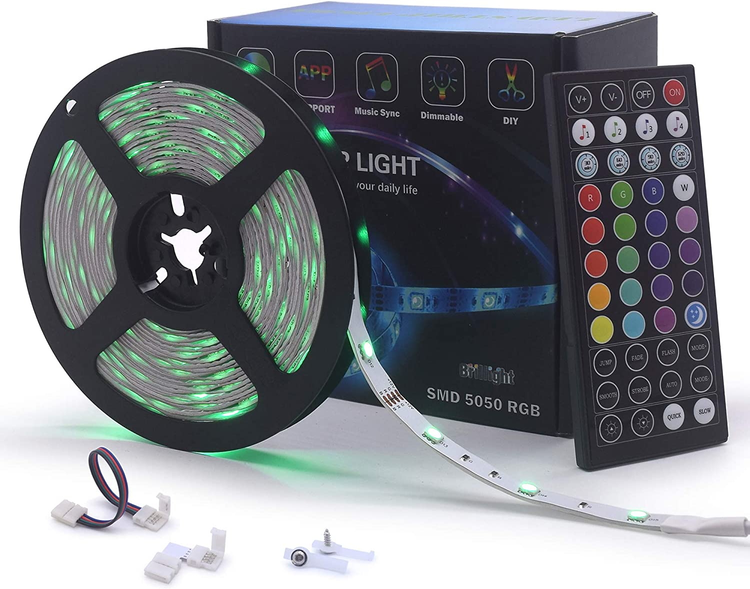 Music-Sound-Activated-Controller For RGB LED Light 12V-DC Strip 20 B2C6