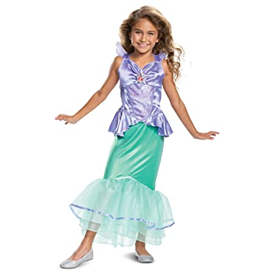 Disney Princess Ariel Classic Girls' Costume, Teal: Toys & Games