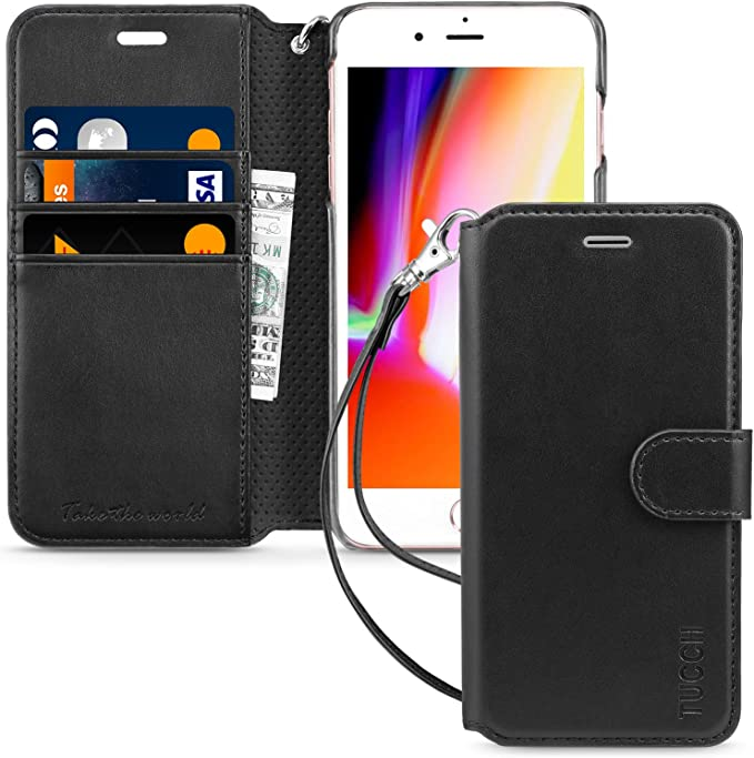 Wallet Cover for iPhone 7 Plus Gift Presents Business Leather Case Compatible with iPhone 7 Plus