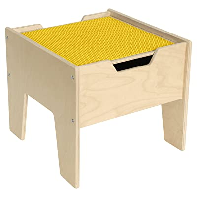 Contender 2-N-1 Activity Table with Yellow Lego Compatible Top - RTA: Industrial & Scientific