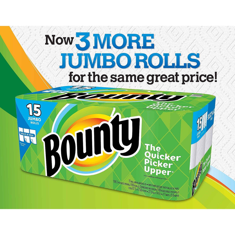 Bounty select-a-size toallas de papel 15 Jumbo rollos: Amazon.es: Salud y cuidado personal