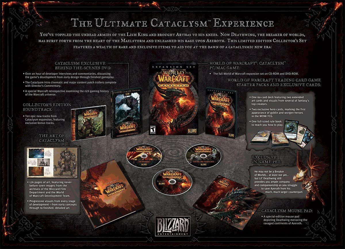 amazon com world of warcraft cataclysm collector s edition pc